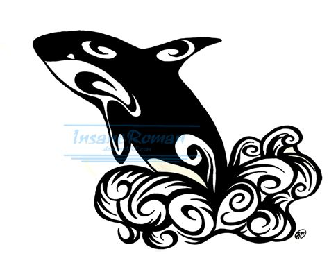 tribal orca tattoo orca whale tattoo design by insaneroman d526bfk png 900