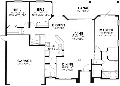 1700 sq ft house plans florida style house plans 1700 square foot home 1 story 3 bedroom and 2 bath 2