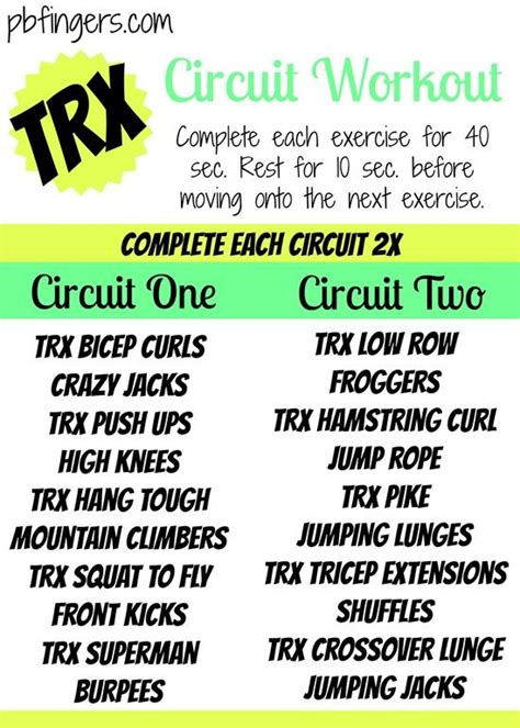 trx circuit workout workout trx and circuit workouts