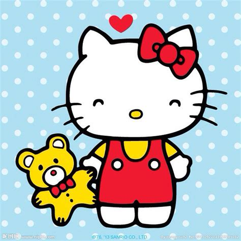 imagenes de kitty rayada 凯蒂猫设计图 其他 动漫动画 设计图库 昵图网nipic com