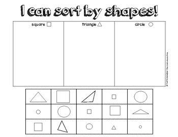 2d shape sort by yvette gonzalez | teachers pay teachers