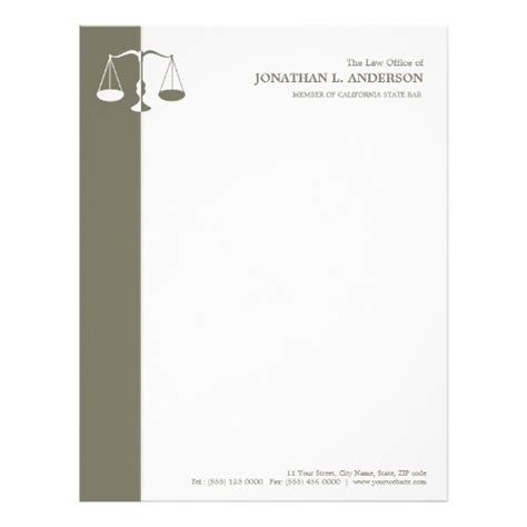 attorney letterhead templates free attorney letterhead custom attorney letterhead templates