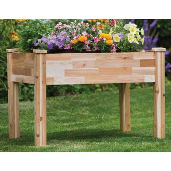 costco planter box cedarcraft elevated garden planter garden builds garden planters planters and