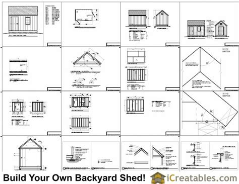 8x12 Cabin Plans by 8x12 Cape Cod Shed Plans Storage Shed Plans Icreatables