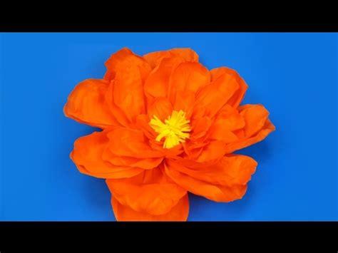 come fare fiori di carta crespa giganti come realizzare un fiore gigante di carta crespa