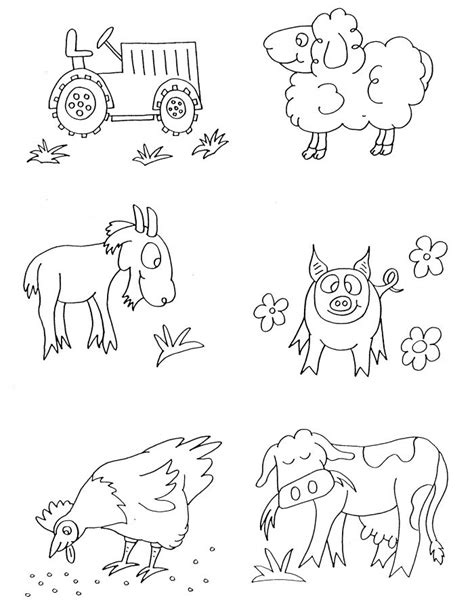 coloring book animals free free printable farm animal coloring pages for