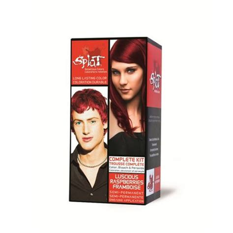 mixing splat lavender and luscious raspberries splat rebellious color bleach color kit luscious