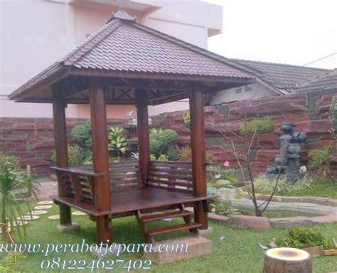 Gazebo Dengan Kayu Kelapa Gzb0002 harga gazebo minimalis kayu kelapa terbaru perabot