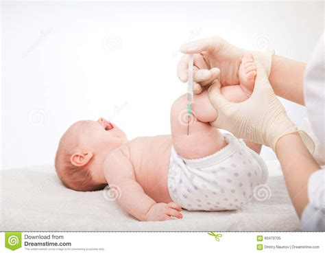 Im For Children by Infant Gets An Injection Stock Photo Image 60479705