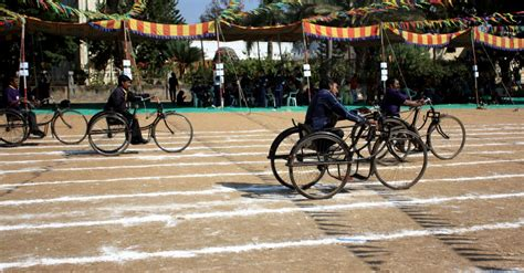 types of physically challenged physically challenged children at the tricycle race