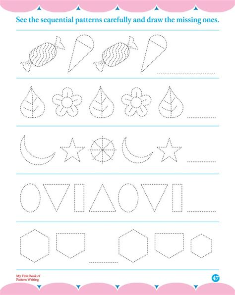 pattern writing paper free pattern writing worksheets for kindergarten cursive