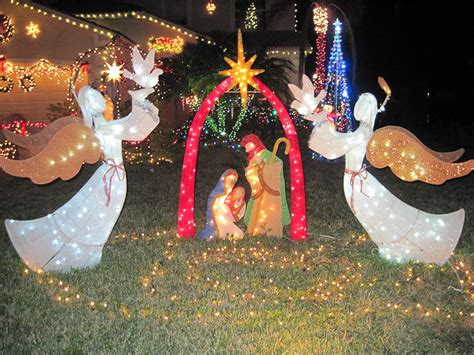 outdoor lighted nativity displays nativity lighted yard displays wikii