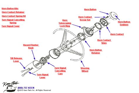 corvette steering wheel parts parts accessories  corvettes