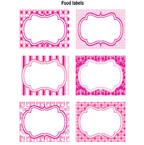 baby shower labels template labels labels food labels