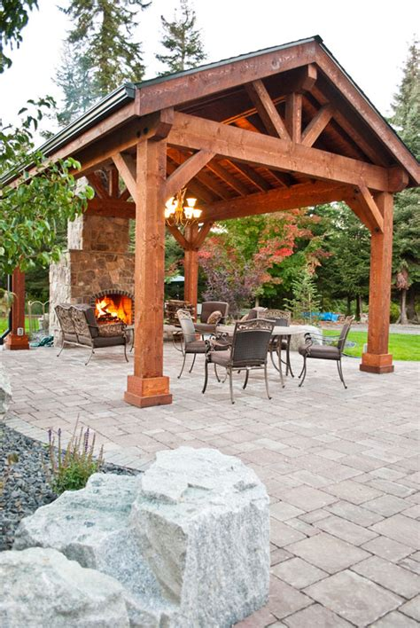 covered patio pavilion design construction in spokane