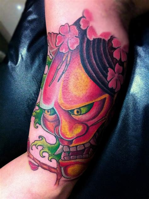new school tattoo reddit freestyle new school oriental design hannya mask by