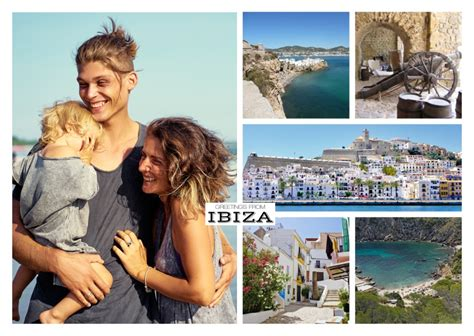 ibiza photo postcard template vacation cards quotes send real postcards