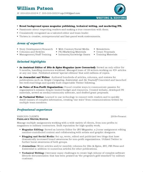 Resume Sle For Editor Position Writer Editor Free Resume Sles Blue Sky Resumes