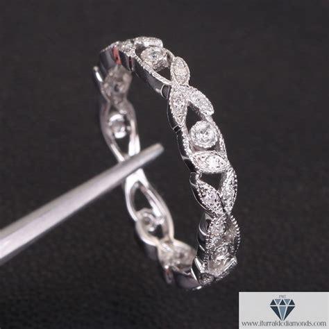 leaf pattern diamond ring antique diamond pave leaf pattern wedding band or ring 14k
