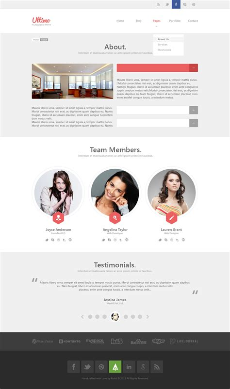 ultimo multipurpose psd template by wellmadepixel