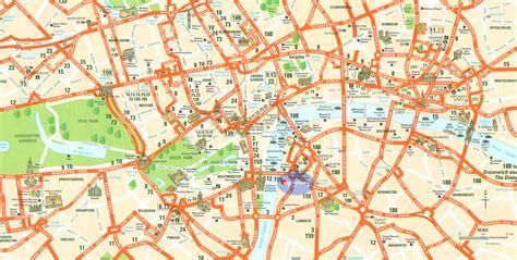 printable map central london london tourist map london mappery