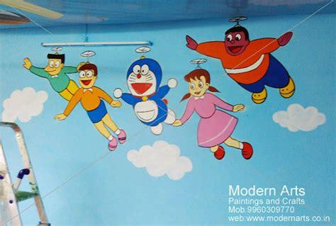 cartoon wall painting in bedroom kids room painting creative paintings for kids room different painting ideas for kids