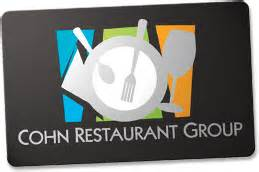 San Diego Restaurants Gift Card - cohn restaurant gift cards the perfect san diego gift card