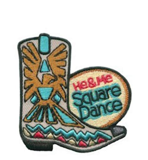 swing your partner dosey doe he me square dance patch makingfriendsmakingfriends