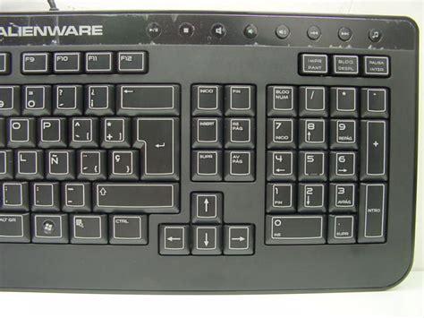 layout qwerty keyboard genuine original dell alienware usb keyboard qwerty