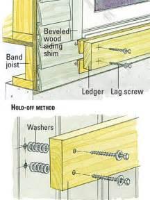 100 decks ledger board attachment how to build