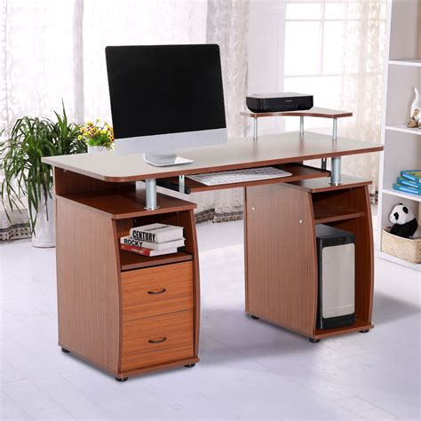 home office computer table pc desk work station drawer
