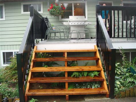 north vancouver cedar stairs wood style aluminum