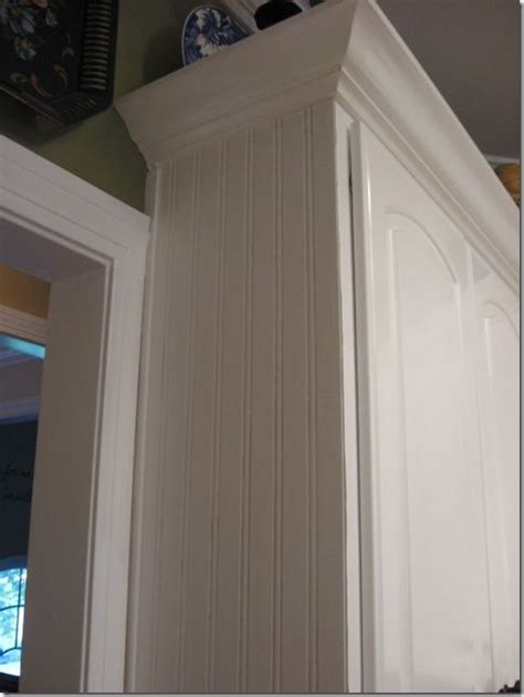 beadboard wallpaper on cabinets beadboard wallpaper on cabinet ends diy quot do it