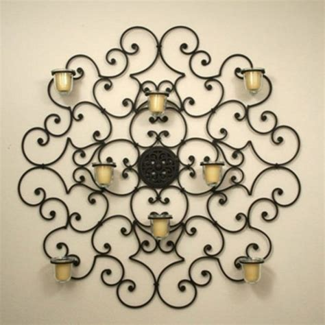 Metal Wall Decor With Candles by 15 Chic Wrought Iron Wall Candle Holders You Will Admire