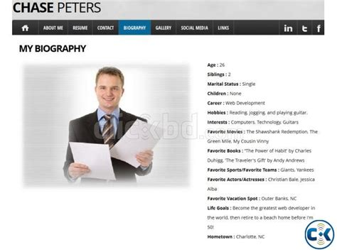 personal resume website exle create your personal website with us clickbd