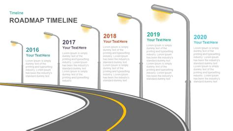 timeline roadmap powerpoint template  keynote