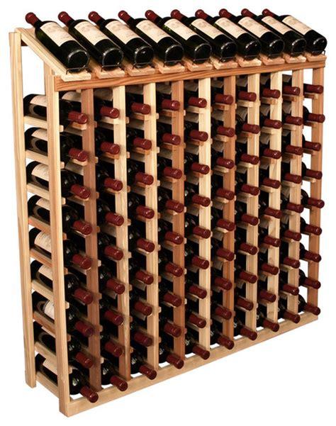 A Wine Rack by 100 Bottle Display Top Wine Rack In Redwood