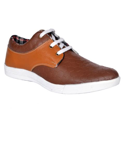 buy randier fancy brown casual shoes for snapdeal
