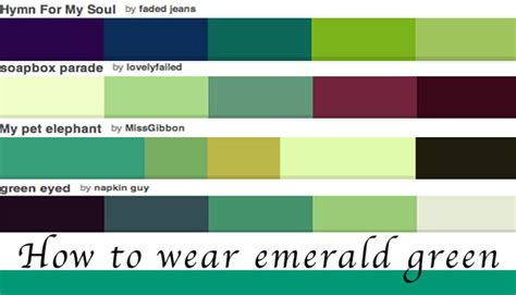 what colors look good with green how to wear green colour of the year emerald green