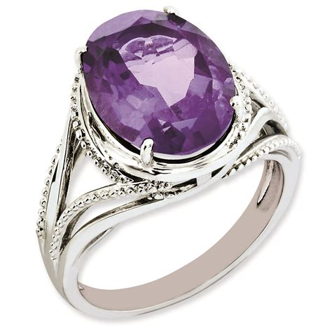 amethyst ring sterling silver amethyst rings size 10