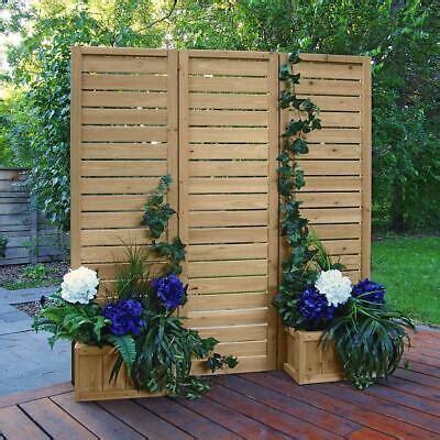 privacy screen wood wooden slats outdoor garden patio