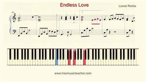 tutorial guitar endless love how to play piano lionel richie quot endless love quot piano