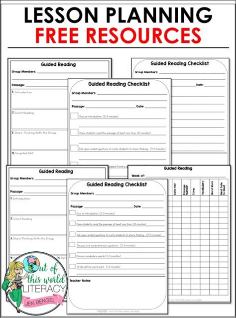 lesson plan template for reading intervention top 25 best guided reading lesson plans ideas on