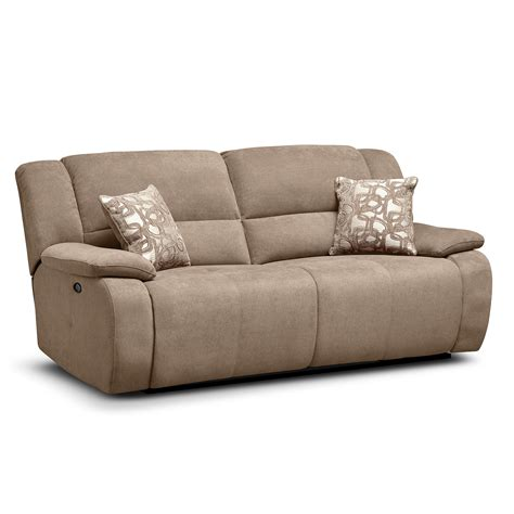 beige reclining sofa value city furniture