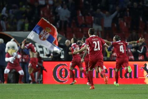 Serbia World Cup Serbian Football Team Qualifies For World Cup 2018