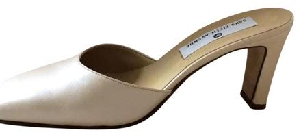 Wedding Shoes Saks by Saks Fifth Avenue Handcrafted Pearl Mules Wedding Shoes