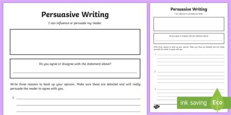blank persuasive writing template teacher