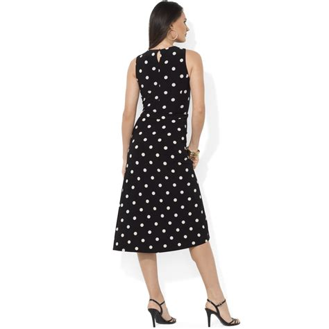 polka dot sleeveless a line dress lyst by ralph sleeveless a line polka dot