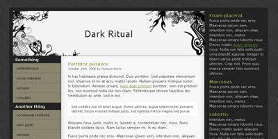 free blogger themes dark free website template dark ritual arcsin web templates