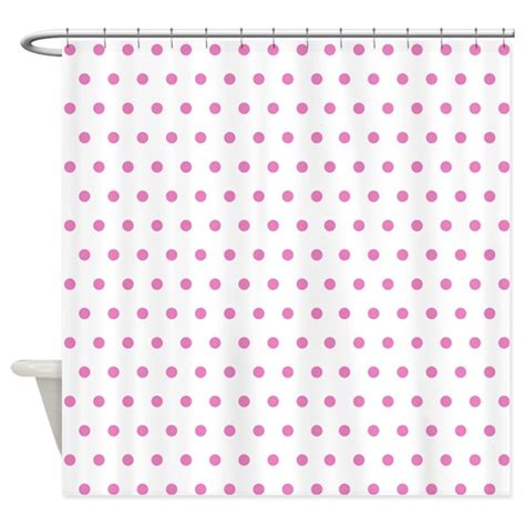 pink dot curtains pink polka dot shower curtain by creativeconceptz